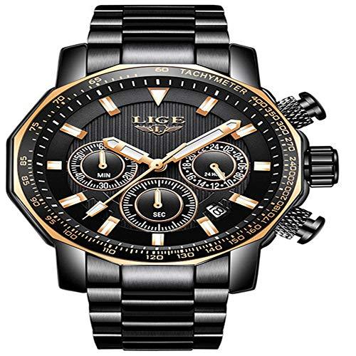 Nuevo Deporte cronógrafo para Hombre Relojes de primeras Marcas Relojde Cuarzo de Acero Completo Relojresistente al Agua Grande dial Hombres relogio Masculino