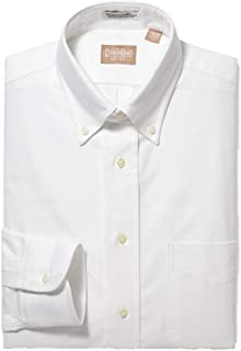 Mens Long Sleeve Regular Fit Cambridge Oxford Button Down Dress Shirt