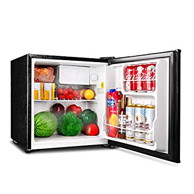 TACKLIFE Compact Refrigerator, 1.6 Cu.Ft(Holds 40 Cans), Mini Refrigerator with Freezer, Energy Star Single Reversible Door, Super Quiet, for Dorm, Office, RV, Garage, Apartment, Black-MPBFR161