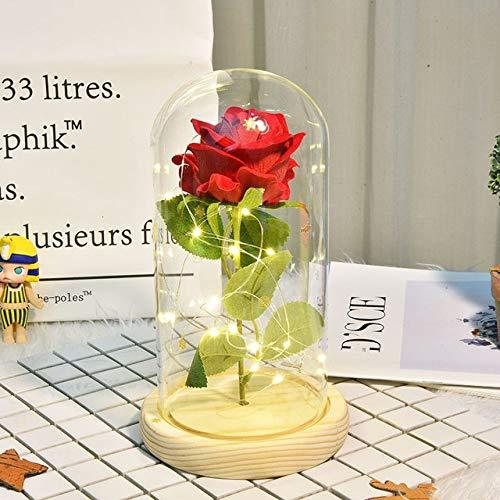 zyr Flor Artificial Flor Falsa para la mamá del día de San Valentín Regalo de la Novia del cumpleaños del cumpleaños Regalo del día de la Madre-Red 2