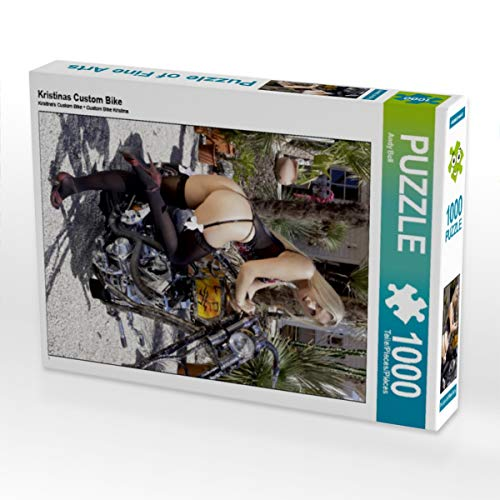 CALVENDO Puzzle Kristinas Custom Bike 1000 Teile Lege-Größe 48 x 64 cm Foto-Puzzle Bild von Andreas Comandante