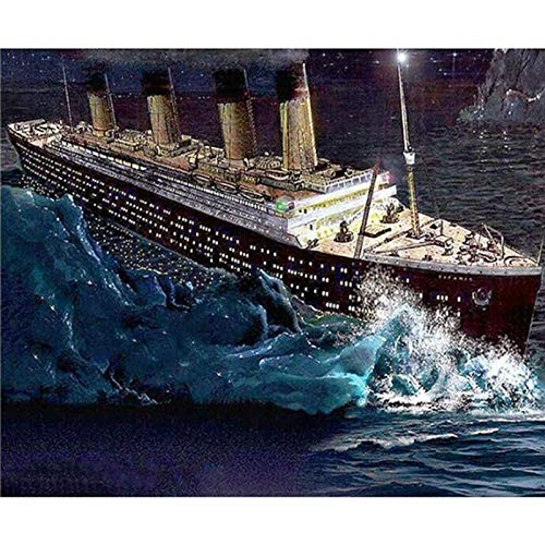 Puzzle 1000 piezas Barco imagen océano pintura cielo azul arte regalo en Juguetes y juegos Rompecabezas de juguete de descompresión intelectual educativo divertido juego famil50x75cm(20x30inch)