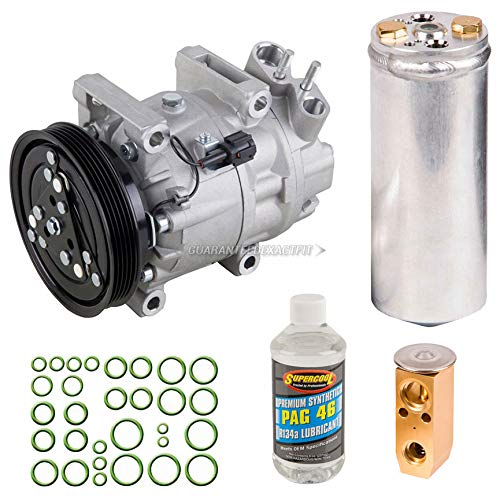 AC Compressor & A/C Kit For Nissan Pathfinder & Infiniti QX4 - Includes Drier Filter, Expansion Valve, PAG Oil & Seals - BuyAutoParts 60-81213RK NEW