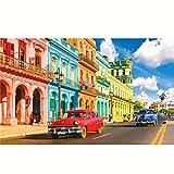 WINKE Rompecabezas de Colores Calle Habana 500 Piezas, Paisaje Jigsaw Puzzles, Family Regalo Educational Puzzle Adultos Y Niños Decompression Toy Gift,A