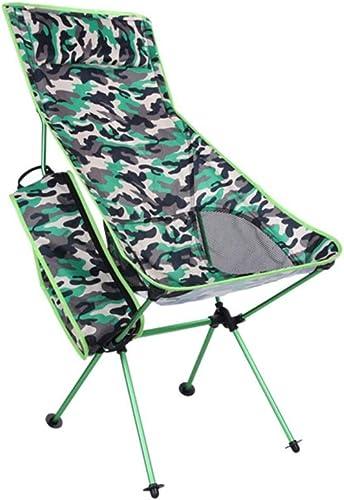 YCHBOS portable Léger Sac à Dos De Camping Chaise Chaise De Camping Multifonctionnel De Montagne for La Randonnée, La Plage, La Pêche, en Plein Air Chaise de Camping (Couleur   vert)