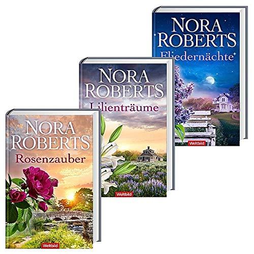 Nora Roberts   Blüten-Trilogie: Rosenzauber - Lilienträume - Fliedernächte   Hardcover-Ausgaben