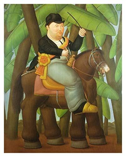 CCZWVH Pósters y fotos impresas en lienzo de Fernando Botero's'Presidente y primera señora' imágenes de arte divertido 20x28inch x2 Sin Marco