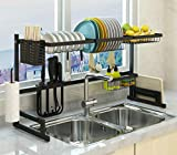 Over The Sink Dish Drying Rack, Double Cutlery Holder Kitchen...
