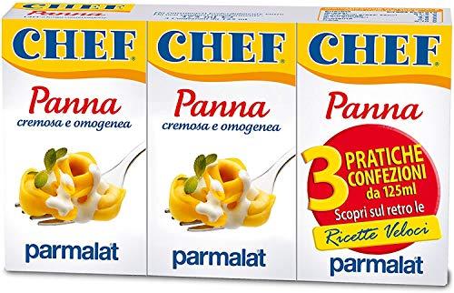 3x Parmalat Panna chef per cucinare Kochcreme creme fur Koch 3x 125 ml
