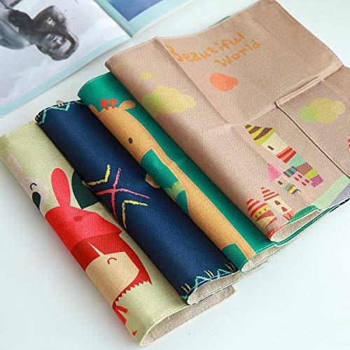 ZITFRI 4pcs Tovagliette Cotone Bambini Tovagliette Americana Bambini Cotone Design Tascabile Adatto a Famiglia Asilo Scuola 42,2 * 30,5 cm