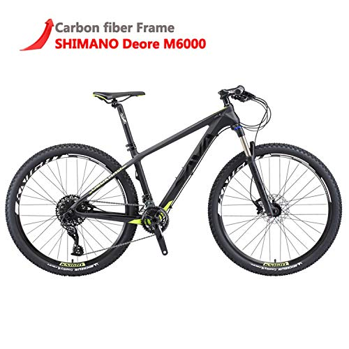 SAVADECK DECK300 Carbon Fiber Mountain Bike 26'/27.5'/29' Complete Hard Tail MTB Bicycle 30...
