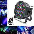 Led Par Can Disco Lights, Party DJ Strobe Lights 7 Lighting Modes DJ Light RGB Colourful Stage Lights Flexible Remote Control DMX Control Par Lights for DJ KTV Disco Parties