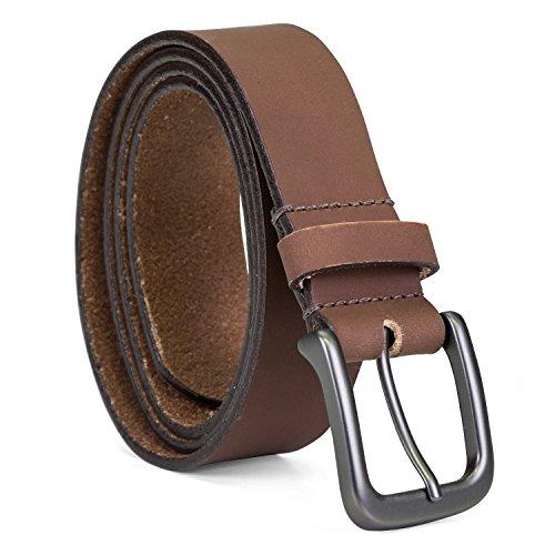 Timberland - Cinturón de piel clásico para hombre, Cinturón de jean de piel clásico, 38
