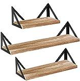 Floating Shelves Wall Mounted Hanging Shelves Set of 3 for Bedroom,Living Room,Kitchen,Bathroom