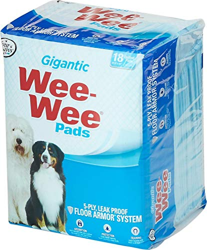 Four Paws Wee Wee Pads, Gigantic 27.5x44 Inch, 18 Count, 4 Pack