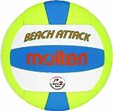 Molten Beach Attack Beachvolleyball Gr. 5, Weiß/Gelb/Blau, 5