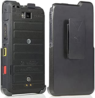 Sonim XP8 Holster, Nakedcellphone Black [Rotating/Ratchet] Belt Clip Case [with Kickstand] for Sonim XP8 Phone (XP8800)