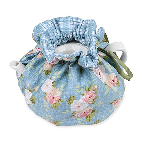 Cotton Floral Tea Cosy,Creative Kitchen Tea Pot Dust Cover,Teapot Cozy Breakfast Warmer,Tea Pot Cover Insulation and Keep Warm,Tea Kettle Quilt for Home Kitchen Table Hotel Tea Party Restaurant