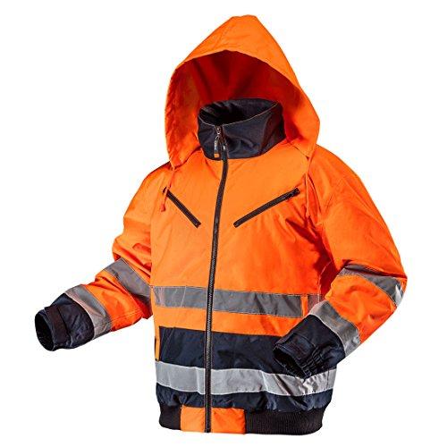 NEO TOOLS Thermo Warnschutzjacke EN 20471 Warnjacke orange Neon gelb Arbeitsjacke Warnschutz Sicherheitsjacke XXL orange