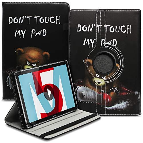 UC-Express Robuste Universal Tablet Schutzhülle kompatibel für Huawei MediaPad M5 8.4 Zoll aus Kunstleder Hülle Tasche Standfunktion 360° Drehbar Cover Hülle, Farbe:Motiv 9