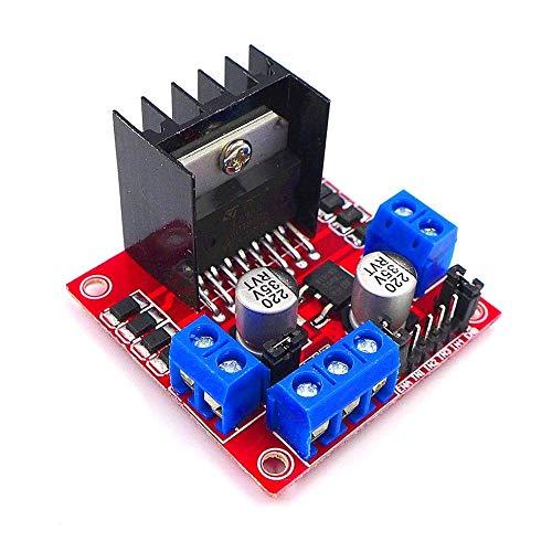 JZK® L298N DC Schrittmotor Fahrer Dual Channel H-Brücke Micro Arduino Steuerplatine Motoren Treiber Modul für Roboter Smart Auto