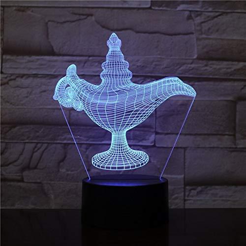Nur 1 Stück Aladdin und seine wunderbare Lampe Nachtlicht 3D Lampe angetrieben Einzigartiges Geschenk für Teenager LED Nachtlicht Lampe Bestseller
