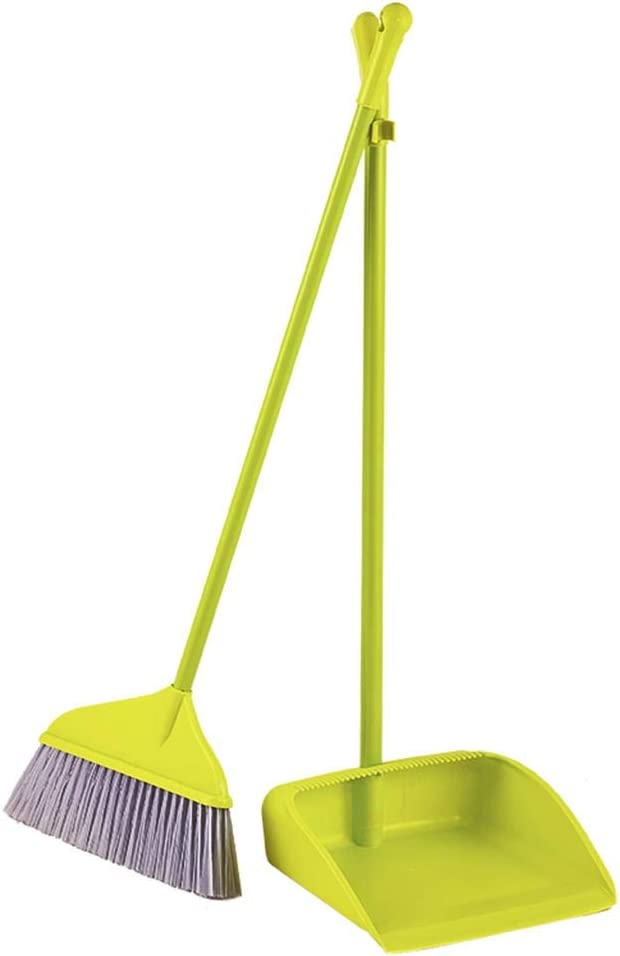 NLIAN- Plastic Dustpan and Brush Long Nippon regular agency Cheap with Handled Sweeping Set
