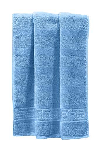 Cawö Handtuch 1001 Noblesse Walk-Frottier blau Größe 50x100 cm