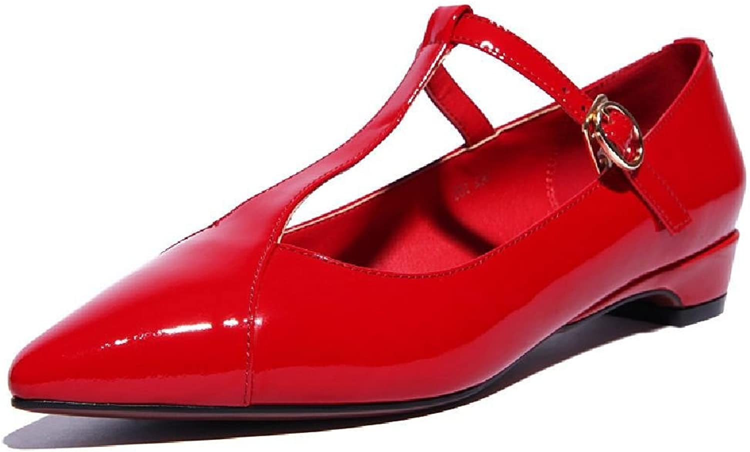 MEIREN European and American high-end fashion with new red leather low women's shoe