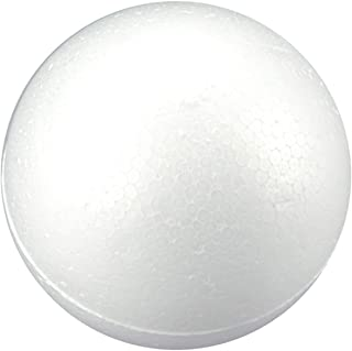 Craft Foam Balls - 1-Pack Large Smooth and Round Polystyrene Foam Balls for Art and Craft Use - Makes DIY Ornaments, Wedding Decor, Science Modeling, School Projects - White (8 inch)