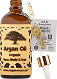 R&M Arganöl Bio kaltgepresst – Marokkanisches Fair Trade Öl für Haare, Gesicht, Nägel und...