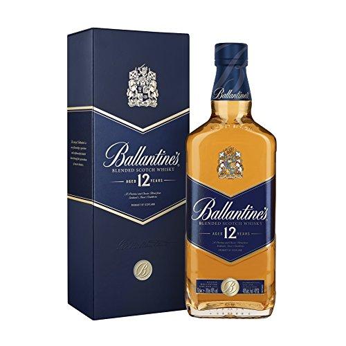 Ballantines 12 Blended Scotch Whisky – 12 Jahre alter milder Blend aus schottischen Malt & Grain Whiskys – Mit Honig-, Fruchtaromen & Gewürznoten – 1 x 0,7 L