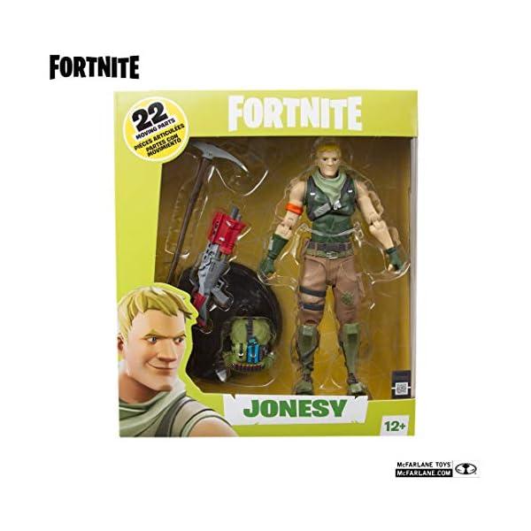 McFarlane - Fortnite Figura Jonesy, multicolor, talla única (McFarlane 10612-1) 6