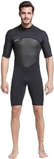 Nataly Osmannメンズ 3mm ウェットスーツ ダイビングスーツ ブラック 防寒保温 連体長袖/半袖
