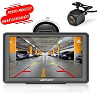 AWESAFE Navegador GPS para Coches con Visera y Bluetooth de 7 Pulgadas con Mapas /Últimos y Actualizaciones de por Vida