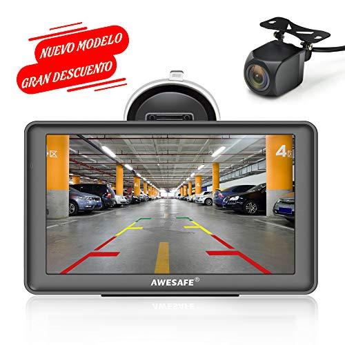AWESAFE GPS para Coches con 7 Pulgadas Pantalla LCD con