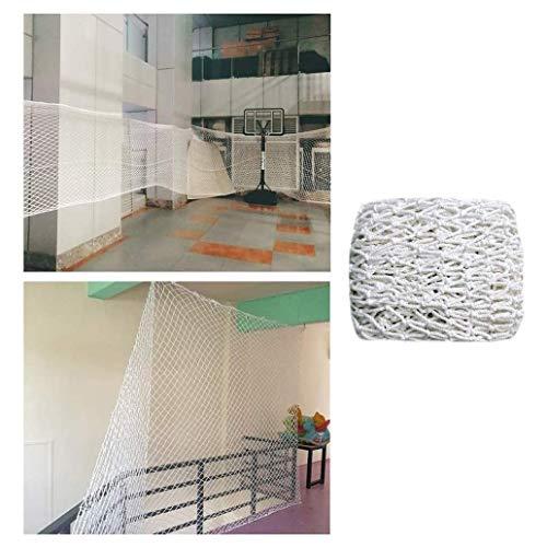 Nfudishpu Schutznetz Innendekoration Netzwerk Externes Schutznetz Backbone-Netzwerk Spielplatz Spielplatz Zaun Netzwerk Weiß 10 cm Netz Für den Außenbereich, Terrasse