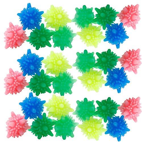Schneespitze 30Pcs Bolas de Lavandería Reutilizables Descontaminación Laundry Ball Plástico Eco Bola Ropa de Limpieza,Colorido
