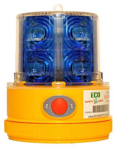 P24LM2 BLUE 24 LED PORTABLE SAFETY LIGHT 50 LBS PULL MAGNET PERSONAL HAZARD EMERGENCY WARNING LIGHT