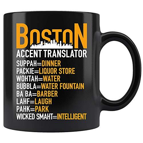 Wicked Smaht Boston Accent Translator Bostonians Coffee Mug 11oz Tea Cup