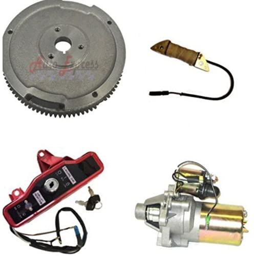 Amazon.com: NEW HONDA GX160 5.5HP ELECTRIC START KIT STARTER MOTOR FLYWHEEL ON/OFF SWITCH: Garden & Outdoor