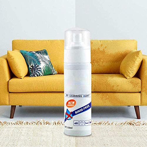 Multi-Purpose Waterless Clothing Cleansing Foam, Sofa Fabric Cleaner, Dry Clean Stain Remover Spray for Down Jacket, Carpet, Sofas 150ML