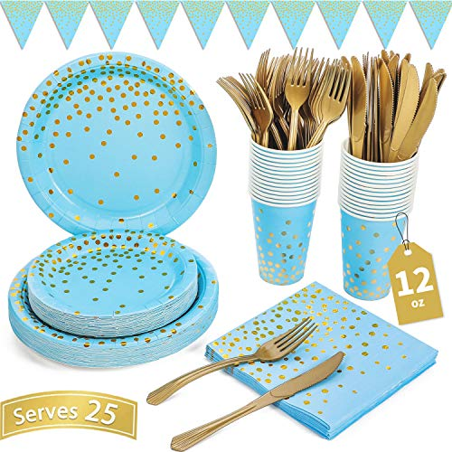 Best baby shower for boy plates and napkins review