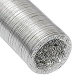 Manguera de Aluminio del conducto de aire de ventilación Ø100mm | Tubo flexible 10m resistente al calor de eyepower