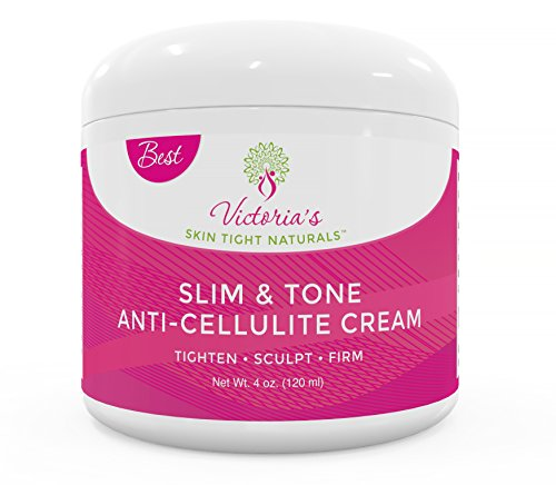 Slim & Tone Anti Cellulite Cream Firming Lotion Botanical Defense Skin Tightening Reduce Sagging Loose Skin Dimples Buttocks Legs Stomach Plus Exclusive Diet and Recipe Guide Free