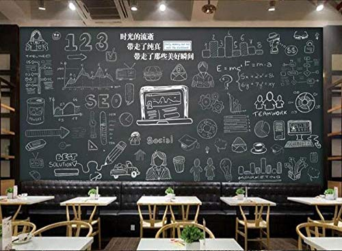 Muursticker muurschildering met de hand beschilderd schoolbord krijt woord poster café dessert winkel ijs winkel pizza winkel bakkerij restaurant foto behang 150cmx105cm(59.1x41.3inch)