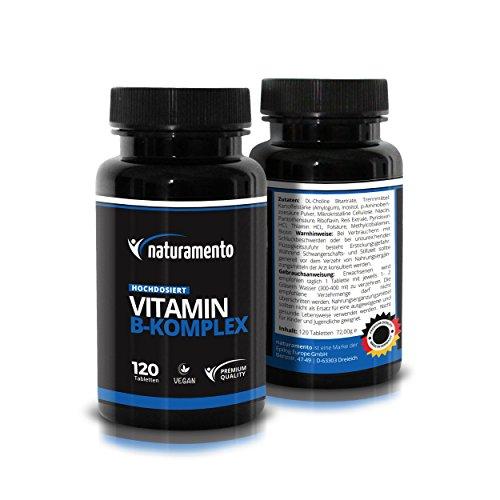 Vitamin B Komplex Kapseln - Hochdosierte Vitamin B Tablette ohne Zusätze - In Deutschland hergestellt - Vegane und bio-aktive Vitamin B Kapseln