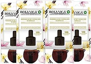 Air Wick Botanica Désodorisant Maison Recharge Electrique, Parfum Magnolia de L'Himalaya et Vanille 19 ML, Lot de 4