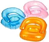 Daum - Personaliza Up Your Life 888/1452 Conjunto de 12 Sillón Hinchable móvil, Aproximadamente 12 x 14 cm, Naranja/Azul/Rosa