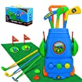 TOMYOU Kids Golf Toy Set – Golf Cart with Hitting Mat, Toddler Golf Toy, Indoor & Outdoor Sports Toys Gift for Boys, Girls 2 3 4 5 6 Year Old [Exquisite Packaging]